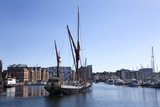 Sailing Ship Leaving the Quayside at Ipswich Marina  Ipswich  Suffolk  England  United Kingdom