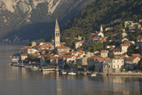 A Small Town on the Fjord Approaching Kotor  Montenegro  Europe