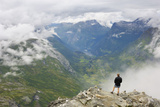 View from Dalsnibba Mountain Viewpoint  Near Geiranger  More Og Romsdal  Norway