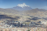View of Mount Illamani and La Paz  Bolivia  South America