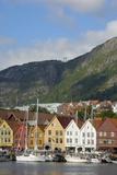 Bryggen  Vagen Harbour  UNESCO World Heritage Site  Bergen  Hordaland  Norway  Scandinavia  Europe