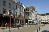 Alfresco Cafes  Place Michel Debre  Amboise  UNESCO Site  Indre-Et-Loire  Centre  France