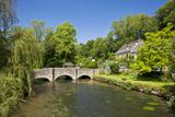 Bridge over River Coln  Bibury  Cotswolds  Gloucestershire  England  United Kingdom  Europe