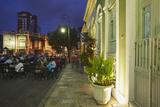 People Eating at Outdoor Restaurants in Praca Sao Sebastiao  Manaus  Amazonas  Brazil