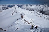 Ski Touring in Alps  Ascent to Punta San Matteo  Border of Lombardia and Trentino-Alto Adige  Italy