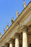 Corinthian Style Columns and Statues at Le Grand Theatre  Bordeaux  UNESCO Site  France