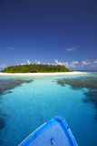 Boat Heading for Desert Island  Maldives  Indian Ocean  Asia