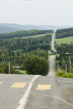 Empty Road  Auclair  Quebec Province  Canada  North America