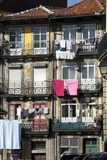 Flats in a Residential Street with Traditional Wrought Iron Balconies  Oporto  Portugal