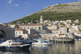 The Old Harbour of the Old City  Dubrovnik  UNESCO World Heritage Site  Croatia  Europe