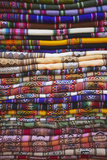 Colourful Blankets in Witches' Market  La Paz  Bolivia  South America