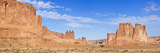 The Three Gossips and Courthouse Towers Rock Formations  Arches Nat'l Park  Near Moab  Utah  USA