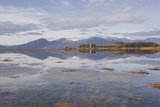 Castle Stalker Reflecting into the Waters of Loch Laich  Argyll and Bute  Scotland  United Kingdom