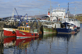 Fishing Boats and Car Ferry in the Harbour  Mallaig  Highlands  Scotland  United Kingdom  Europe