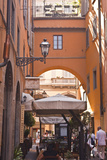 A Narrow Backstreet in the Heart of Florence  Tuscany  Italy  Europe