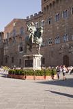 The Equestrian Statue of Cosimo I de Medici in Piazza Della Signoria  Florence  Tuscany  Italy