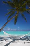 Hammock on Tropical Beach, Maldives, Indian Ocean, Asia Papier Photo par Sakis Papadopoulos