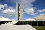 Congresso Nacional (Nat'l Congress) Designed by Oscar Niemeyer  Brasilia  UNESCO Site  Brazil