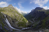 View from Trollstigen Viewpoint  More Og Romsdal  Norway  Scandinavia  Europe