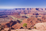 Colorado River Gooseneck Bend  Dead Horse Point State Park Overlook  Utah  United States of America