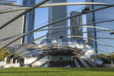 Jay Pritzker Pavilion Designed by Frank Gehry  Millennium Park  Chicago  Illinois  USA