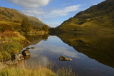 Reflection of Autumn Colours  Loch Eilt  Highlands  Scotland  United Kingdom  Europe