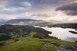 Rising Sun Lights Up Fells of Skiddaw and Blencartha  Lake District Nat'l Pk  Cumbria  England  UK