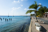 Pier in Kralendijk Capital of Bonaire  ABC Islands  Netherlands Antilles  Caribbean