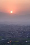 Sunset over Kathmandu  Nepal  Asia