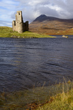 Ardvreck Castle and Loch Assynt  Sutherland  North West Highlands  Scotland  United Kingdom  Europe