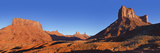Red Sandstone Rock  Castle Valley at Sunset  Near Moab  Utah  United States of America