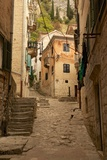 Narrow Street in Old Town  UNESCO World Heritage Site  Kotor  Montenegro  Europe