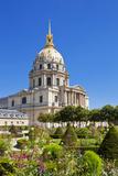 Eglise Du Dome  Les Invalide  and Formal Gardens  Paris  France  Europe