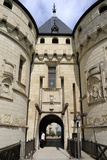 Ornate Stone Carvings on Entrance to Chateau de Chaumont  Chaumont Sur Loire  Loire Valley  France