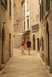 Narrow Street  Old Town  Kotor  UNESCO World Heritage Site  Montenegro  Europe