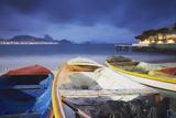 Fishing Boats on Copacabana Beach at Dusk  Rio de Janeiro  Brazil  South America