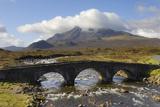 Sgurr Nan Gillean from Sligachan  Isle of Skye  Inner Hebrides  Scotland  United Kingdom  Europe