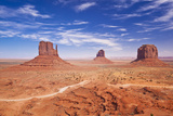 West and East Mitten Butte and Merrick Butte  Monument Valley Navajo Tribal Pk  Arizona  USA