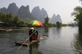 Rafting on the Yulong River  Yangshuo  Guangxi  China  Asia
