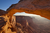 Mesa Arch Sunrise  Island in the Sky  Canyonlands National Park  Utah  United States of America