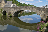 The Stone Bridge over River Rance  Dinan  Brittany  France  Europe