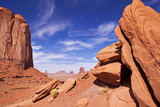 View from North Window  Monument Valley Navajo Tribal Park  Arizona  United States of America