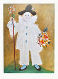 The Artist's Son Pierrot with Flowers   1929