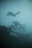 Scuba Divers Wreck Diving  Southern Thailand  Andaman Sea  Indian Ocean  Southeast Asia  Asia