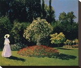 Woman in the Garden  Sainte-Adresse  1867