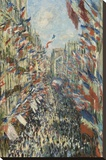 The Rue Montorgueil in Paris Celebration of June 30  1878