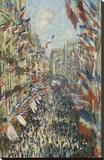 The Rue Montorgueil in Paris Celebration of June 30  1878