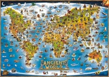Map of the Ancient World  Laminated Educational Poster