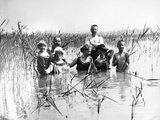 Swimmers in lake Ammer