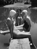 Women at a lake  1938